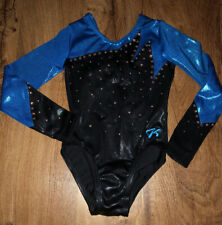 GK ELITE GYMNASTICS LEOTARD YOUTH SMALL LOTS OF BLING NICE!