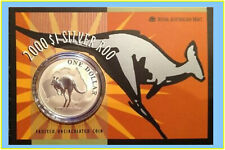 2000 $1 Kangaroo Silver Frosted Uncirculated 1 oz. Coin