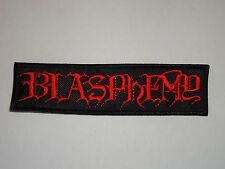 BLASPHEMY EMBROIDERED PATCH