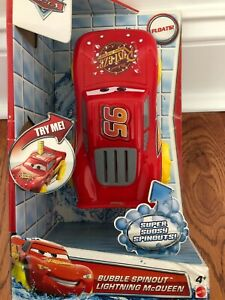 Disney/ pixar Cars MATTEL Bubble Spinout Lightning McQueen Bath Vehicle