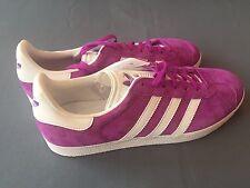 5+/5 Adidas BB5484 Original Gazelle Purple White Trainers Shoes Shock MENS