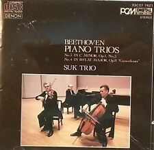 BEETHOVEN CD PIANO TRIOS 3 + 4 - SUK TRIO - PCM MADE IN JAPAN