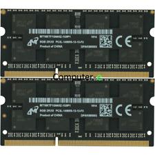 Micron 16GB KIT 2X8GB PC3L-14900S DDR3-1866Mhz 204Pin SO-DIMM Laptop Memory Ram