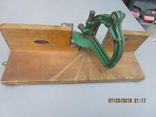 Vintage Dunlap Cast Iron Mitre Box old carpenter tool for parts or restore