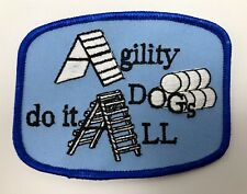 Agility Dogs Do It All Patch Blue Obstacle Course