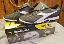 Diadora Forza Turf Soccer Shoes Men's Size 8 Black, White, Silver NIB SHIPS FREE