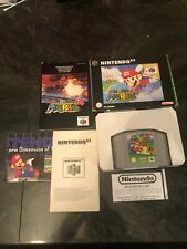 Nintendo 64 N64 Video Game Complete Box PAL VERSION Super Mario 64 Cartridge CIB