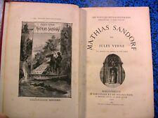 1885 JULES VERNE HETZEL MATHIAS SANDORF VOYAGE ITALIE MER MALTE AFRIQ LIVRE BOOK