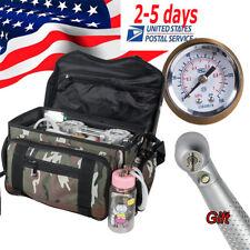 Portable Dental Unit Oilless Air Compressor Suction 3 Way Syringe+LED Handpiece