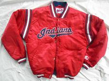 Vintage Starter MLB Indians Red Satin Jacket Size XL