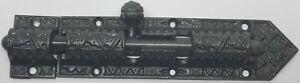 Cast Iron Victorian Style Iron Latch Bolt fancy steel decorative slide lock old