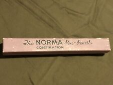 1960's Norma Pen Pencil Combo With Case/Refill Pencil Red Blue Ink Work No Green