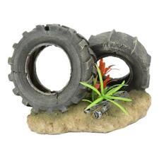 Aquarium Ornament Fish Play Toy Scenic Tire Water Plant Fish Tank Decoration
