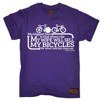Cycling Biggest Fear Bicycles funny top Birthdayátee T SHIRT T-SHIRT