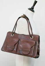 Leather Shoulder Bag / Tote Bag  - 1970s Vintage - Original -  Brown - Large