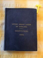 More details for vintage masonic book united grand lodge of england constitutions 1922 , rare ed