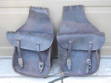 Vintage Leather Harley Davidson Saddlebags Saddle Bags