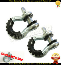 "D-Ring Shackle 6pcs BLACK Isolators Off Road Kit 3/4"" Pair SILENCER Clevis"