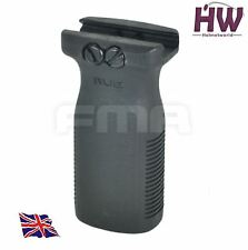 AIRSOFT STYLE RVG VERTICAL FOREGRIP AEG GRIP BLACK SWAT 20mm RAIL UK