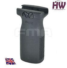 AIRSOFT STYLE RVG VERTICAL FOREGRIP AEG GRIP BLACK SWAT 20mm RAIL UK