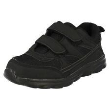 Chaussures noirs moyens à attache auto-agrippant pour fille de 2 à 16 ans