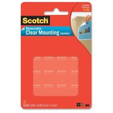 Scotch Mounting Squares, Precut, Removable, 11/16 x 11/16, Clear, 35/Pack, PK -
