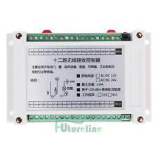 12V DC 12 Channel Relay RF Switch Remote Control Transmitter Receiver 315/433MHz