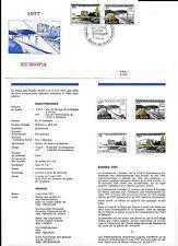 1 x feuillet prévente EUROPA  1977  +  FDC P.509