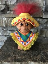 Russ Troll Doll! 4� Red Hair Brown Eyes! Trolls Around The World! Mexico!