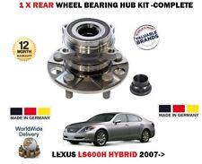 FOR LEXUS LS600H 5.0 2UR-FSE 4X4 2007-> NEW 1 X REAR WHEEL BEARING HUB KIT + NUT