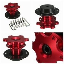 UNIVERSAL QUICK RELEASE SNAP OFF STEERING WHEEL HUB BOSS KIT FOR MOMO SPARCO RED