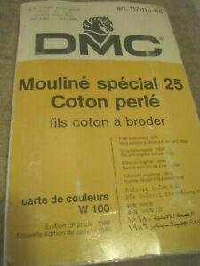 Sample Catalog DMC Mouline Color Card Folder 7 pgs 1986 Paris RARE Multilingual