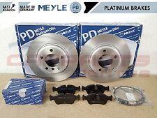 FOR BMW E46 320D 320CD 320 CD FRONT MEYLE PLATINUM BRAKE DISCS PADS WIRE SENSOR