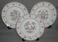 Set (3) Johnson Brothers TWELVE DAYS OF CHRISTMAS PATTERN Dinner Plates ENGLAND