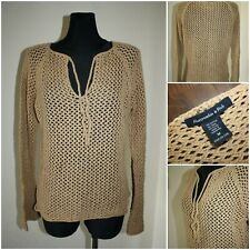 ABERCROMBIE & FITCH Women's MEDIUM Knit Jumper / Sweater / Top *stains*