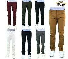 MEN JEANS SLIM STRETCH FIT SLIM FIT TROUSERS TWILL RINSE DENIM CASUAL PANTS