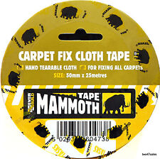 Carpet Cloth Heavy Duty Double Sided Adhesive Tape 50mm x 25m