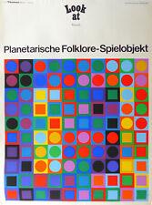 rare original vintage 1969 VICTOR VASARELY GALERIE THOMAS MÜNCHEN poster