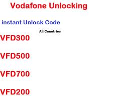 Unlocking Unlock Code Vodafone Smart First 6 Speed V695 V785 VFD200 V200 V795