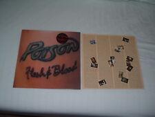 POISON Flesh & Blood '90 US HAIR metal ORIG UK IMPORT Hype Sticker NMint