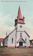 Postcard St Mary's Catholic Church Eugene OR
