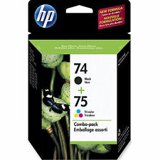 EXP 2017 IN RETAIL BOX Genuine HP 74/75 Combo