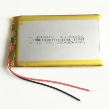 3000mAh 3.7V LiPo Polymer rechargeable Battery For Power Bank Tablet PC 605080