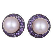 Pendientes de joyería con perlas omegas