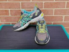 Asics Gel-Venture 5 T5N9N Size 9 Trail Running Womens Gray/ Blue/ Green Shoes