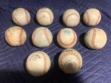 Used Baseball Lot of 10 Practice Base balls  00004000 Babe Ruth Youth Baseball