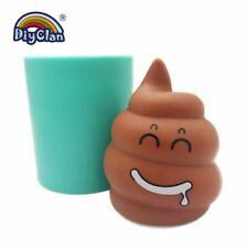 April Fool's Day Creative Faeces Silicone Mold For Candle Soap Making Excrement