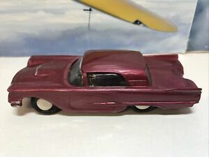 Vintage Plastic Ford Thunderbird With Friction Drive Made in Hong Kong 13cm Long