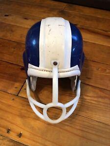 Vintage Kent Youth 7709 Med Football Helmet 1960's Stripe blue White