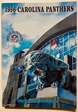 CAROLINA PANTHERS 1996 official NFL media guide; very good condition